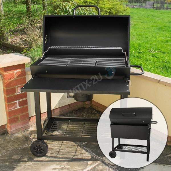 Classic Charcoal Barrel Bbq Garden Grill Outdoor Patio