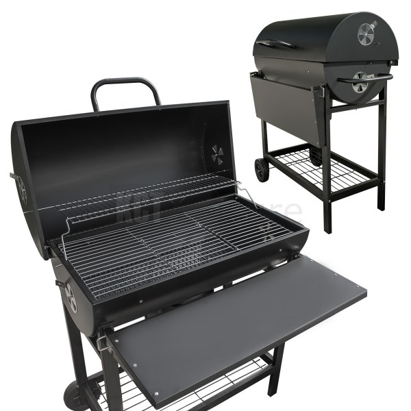 Classic Charcoal Bbq Grill Smoker Outdoor Black Patio