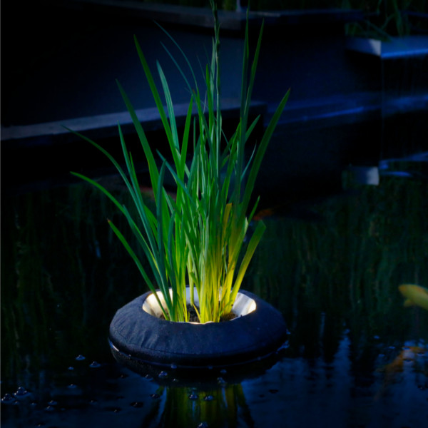 36 volt diagram of ribs and organs velda round floating plant island with lights for pond garden water features koi | ebay