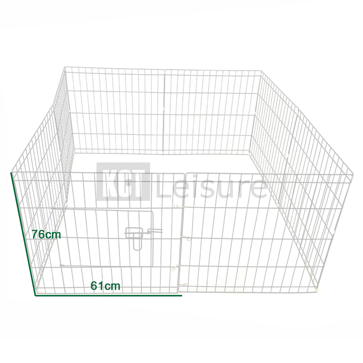 LARGE 76CM PET PUPPY WIRE PLAY PEN CAGE DOG RABBIT RUN