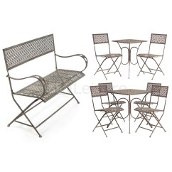 Retro Cafe Table And Chairs Disney Cars Chair Set Vintage Steel Bistro Furniture Garden