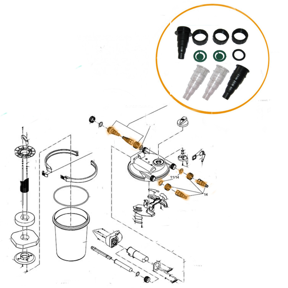 OASE GENUINE REPLACEMENT HOSETAIL KIT SET FILTOCLEAR 3000