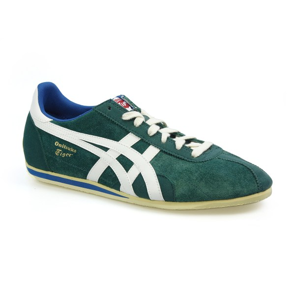 Onitsuka Tiger Runspark Og Su Forest Green White Suede Trainers