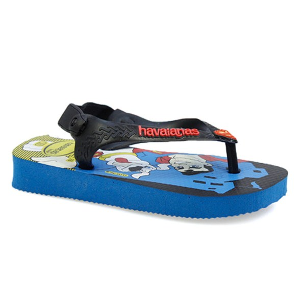 Havaianas Baby Herois Toddler Sky Blue Rubber Flip Flops Sandals Size 1 - 7