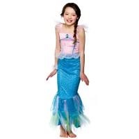 Mystical Mermaid Girls Fancy Dress Costume Little Mermaid ...