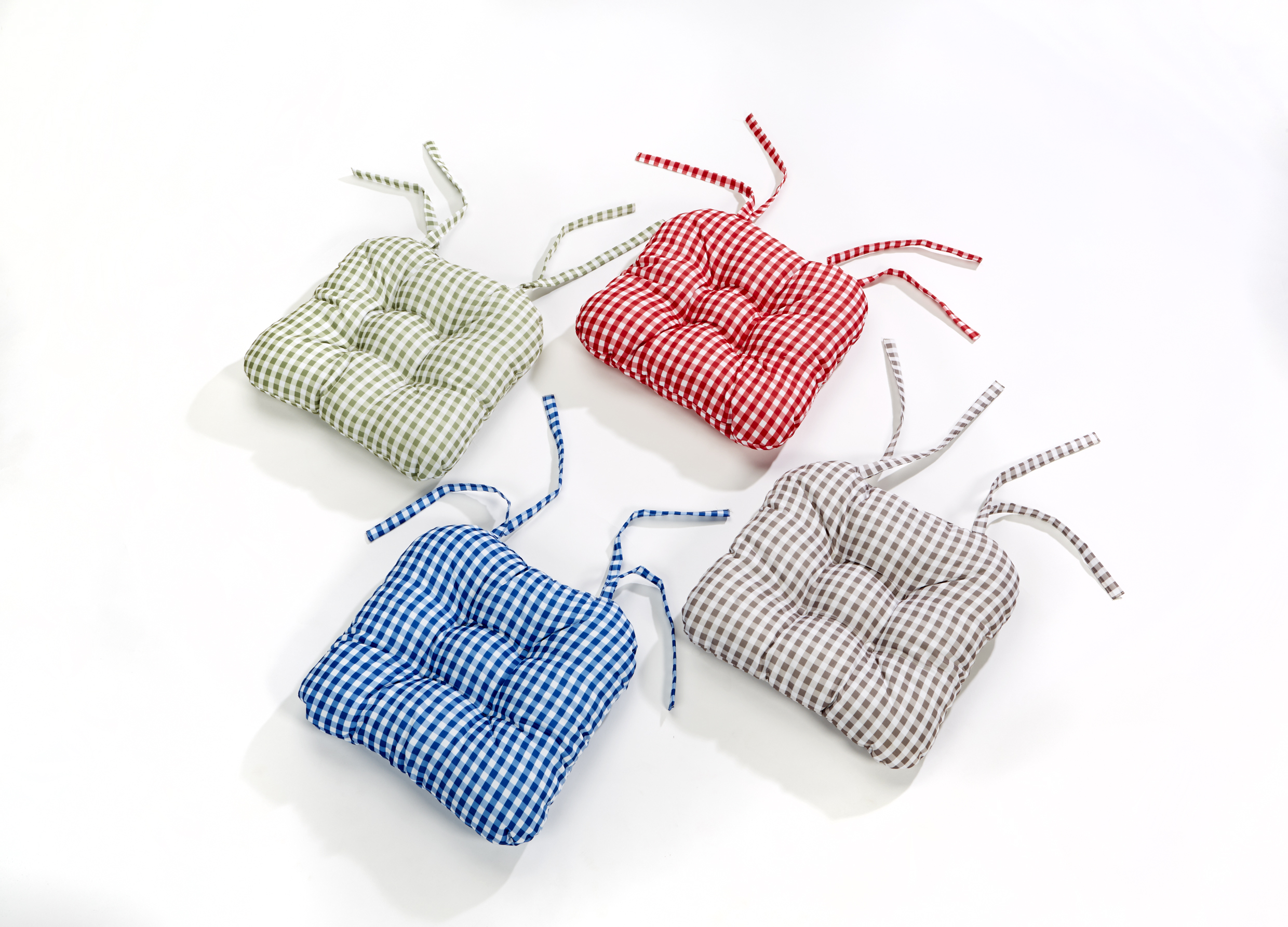 Gingham Chair Luxury Retro Look Gingham Check Seat Pad Garden Kitchen