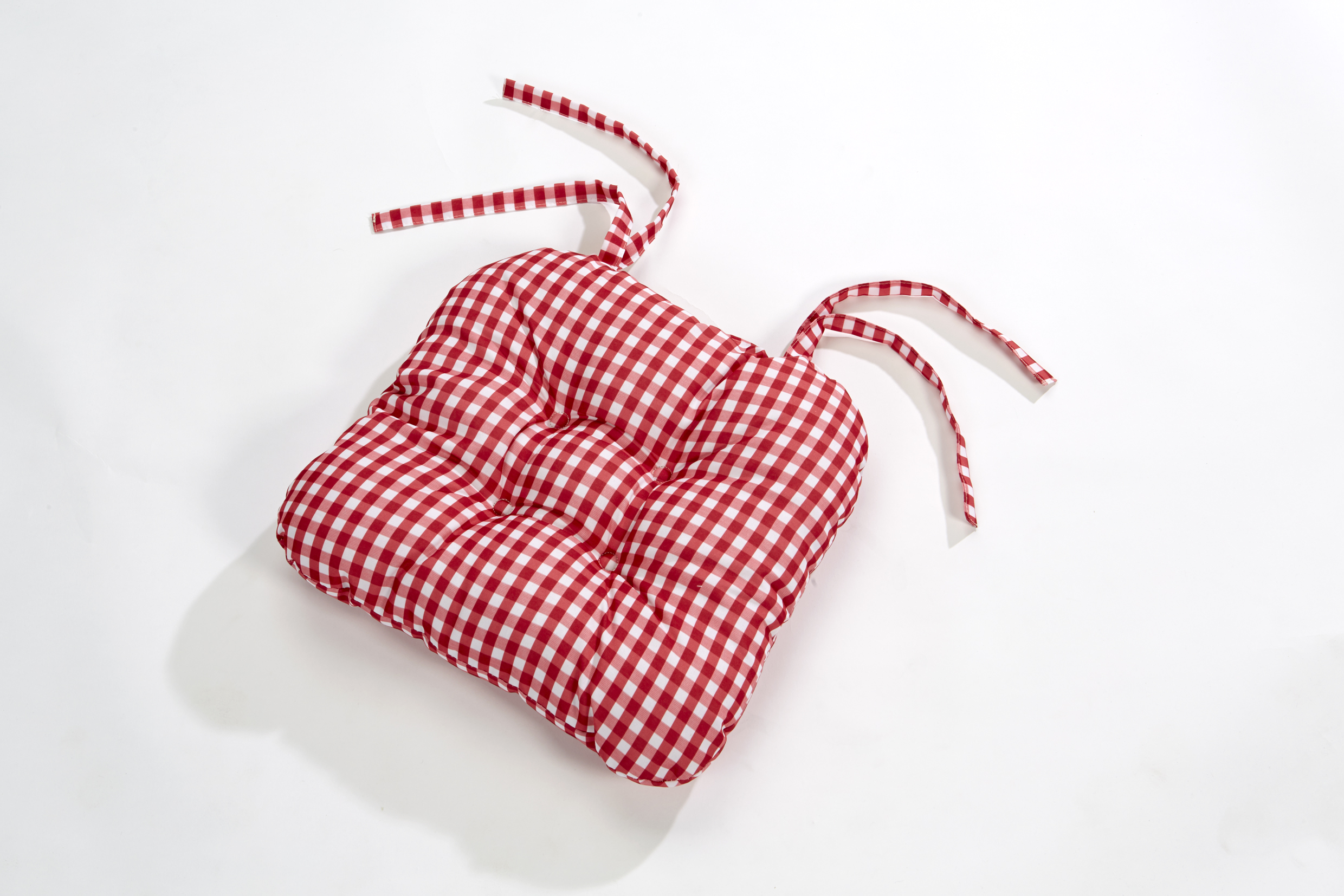 Gingham Chair Gingham Check Quilted Style Seat Pad Cushion Chair Tie On