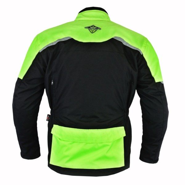 Hi Vis Leather Motorcycle Jackets. Texpeed Black   Vis Waterproof Armoured  Motorcycle d435e2c4d