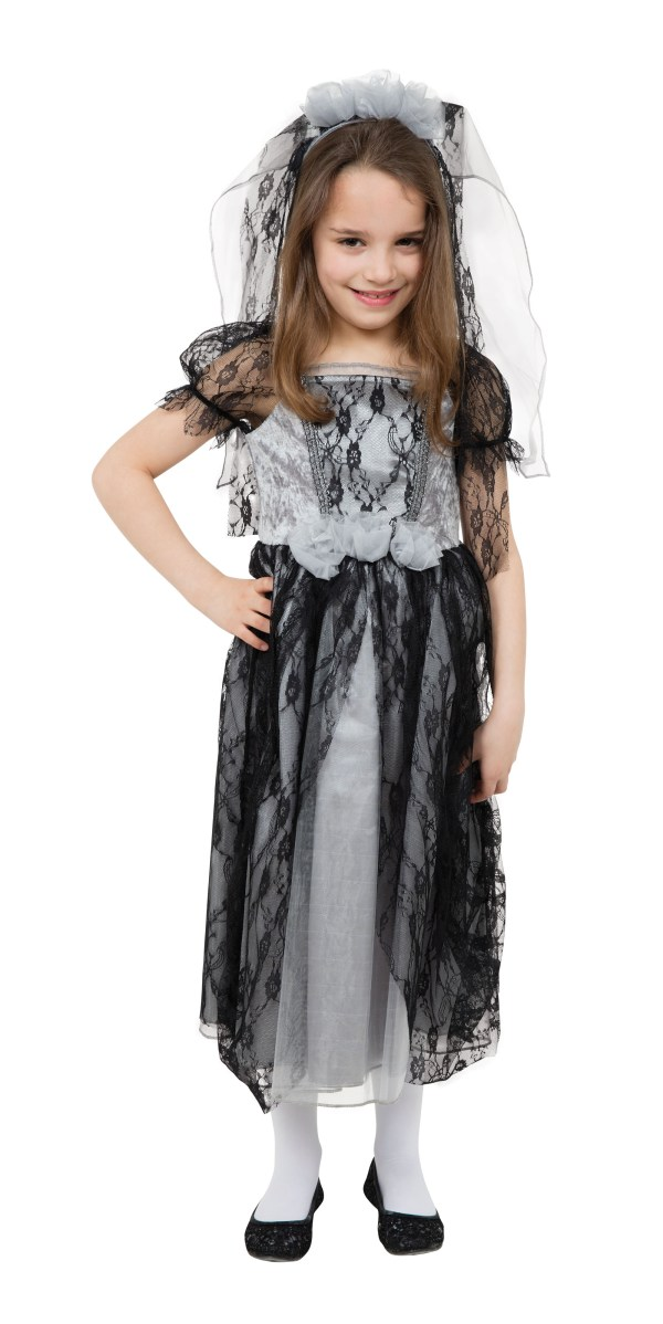 Girl' Gothic Bride Fancy Dress Costume