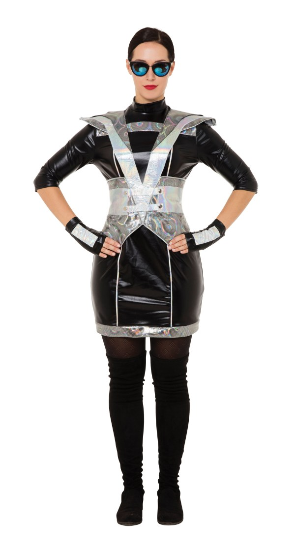 Robot Womens Costume Ladies Fancy Dress Outfit Spaceman