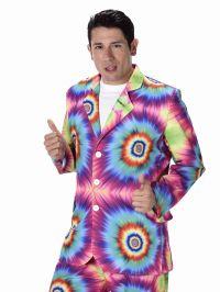 Mens 60s 70s Groovy Hippie Tie Dye Suit Adult Fancy Dress ...