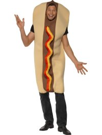SALE! Adult Funny Giant Size Hot Dog Mens Fancy Dress ...