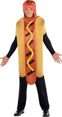 Adult Hot Diggety Dog Fancy Dress Costume