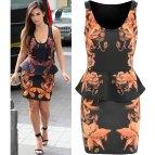 Kim Kardashian Floral Dress