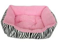 Soft Pet Bed ZEBRA PRINT Dog Cat Puppy Kitten Soft Fleece ...
