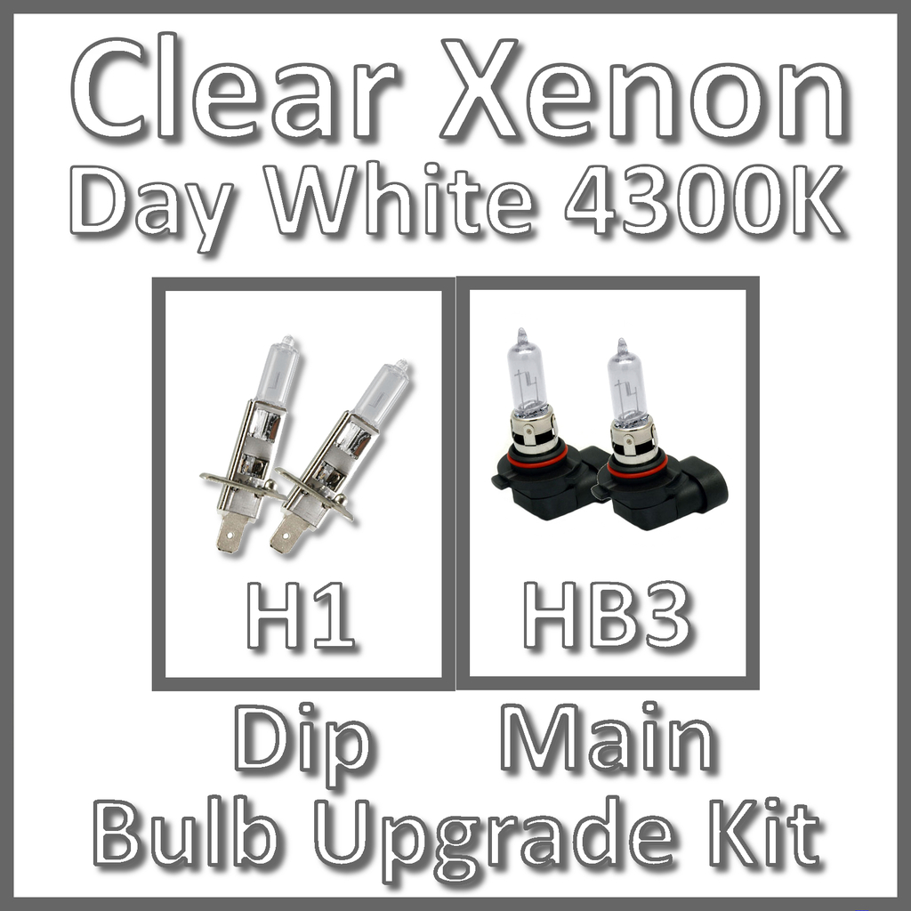 Day White 4300K Clear Xenon Headlight Bulb Set Main Dip