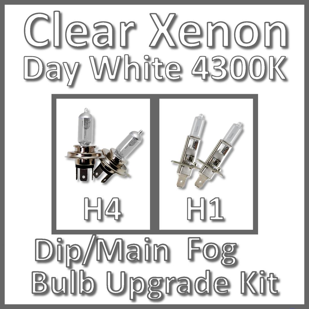 Giorno Bianco K Clear Xenon Lampadina Del Faro Set