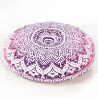 Pink Mandala Bohemian Hippie Floor Pillow Cushion Cover ...