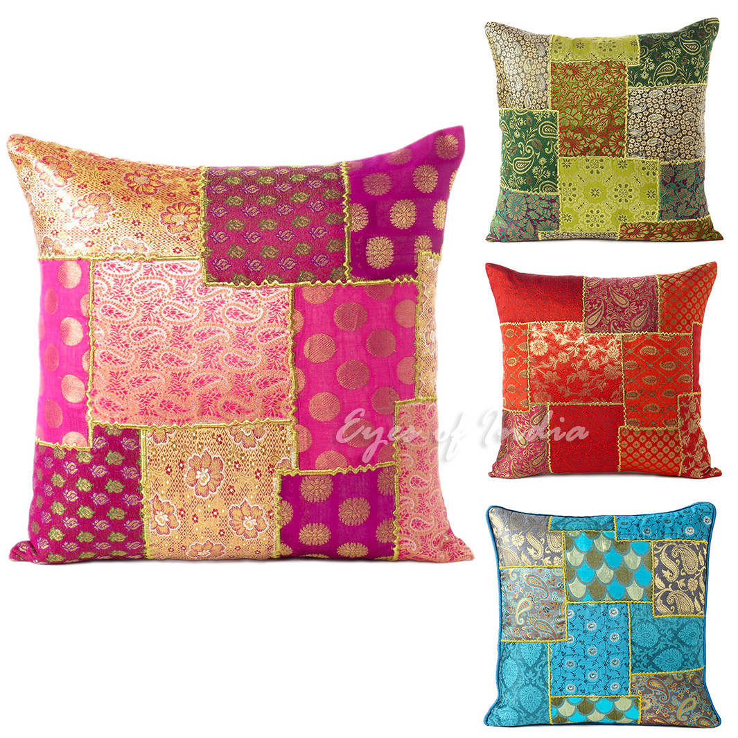pink throw pillows for sofa red and green plaid 16 quot silk brocade decorative pillow cushion