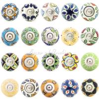 Yellow & Green Ceramic Decorative Door Knobs | Decorative ...