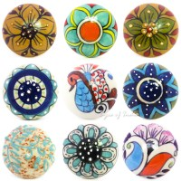 DECORATIVE CERAMIC CABINET CUPBOARD DOOR DRESSER KNOBS ...