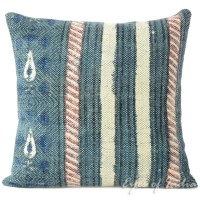 Blue Dhurrie Patchwork Bohemian Kilim Decorative Sofa