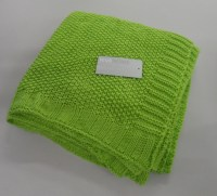Riva Home Knitted Throw/ Blanket - 130 x 150 cm - LIME ...