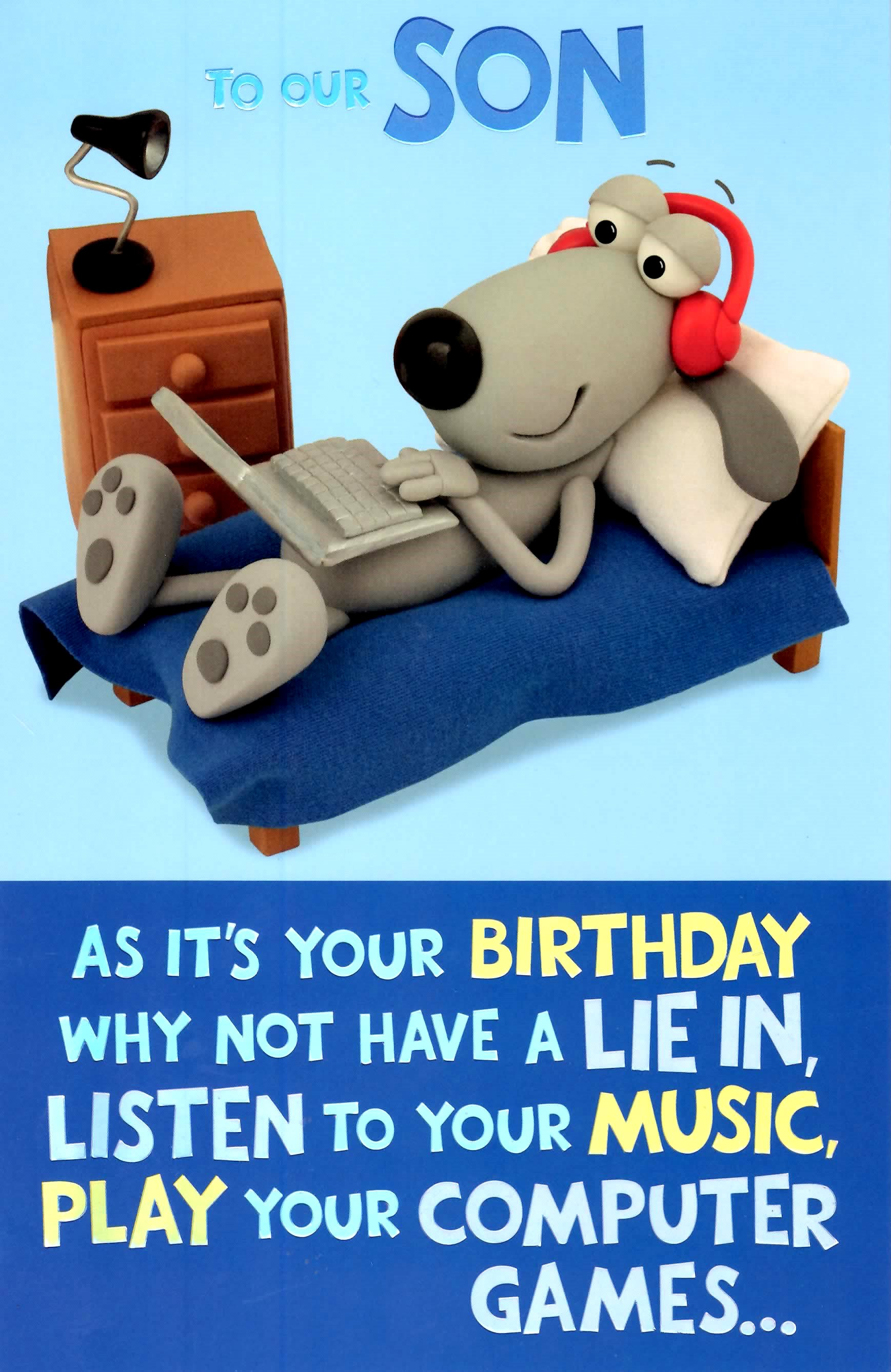 Cute Funny To Our Son Birthday Greeting Card Cards