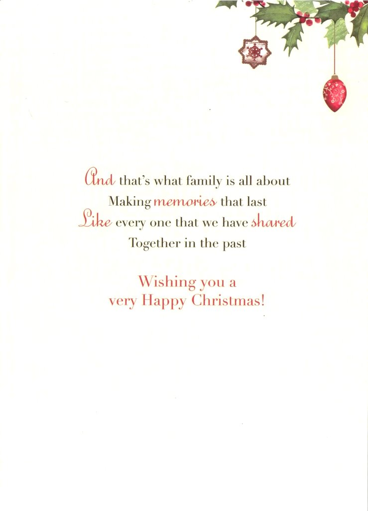Sister Amp Brother In Law Christmas Greeting Card