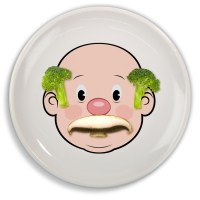 Fred & Friends Mr Food Face Plate Make Meals Fun Novelty ...