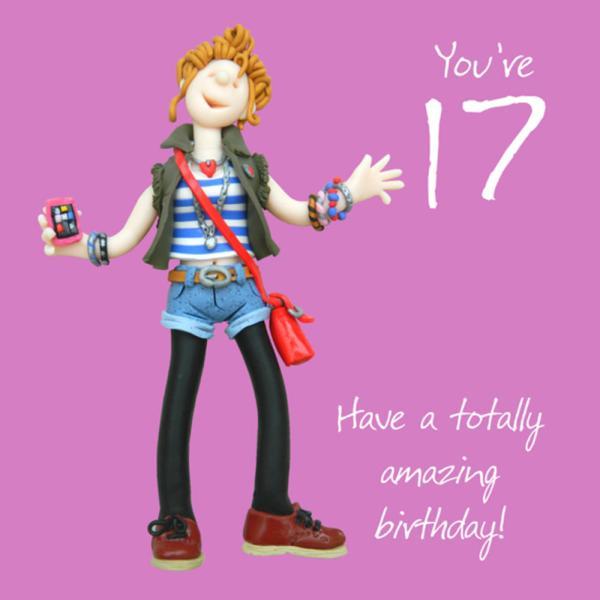 17th Boy Birthday Card