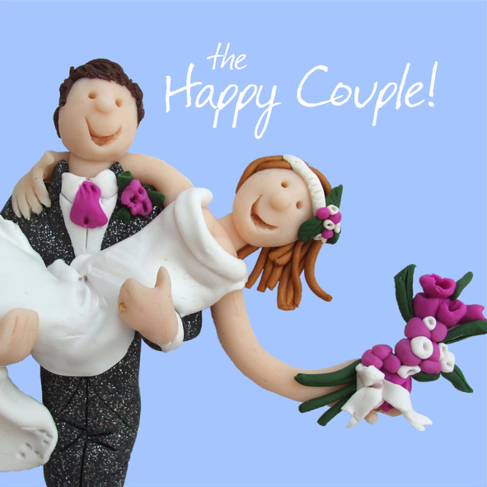 Happy Couple Wedding Greeting Card One Lump Or Two Cards