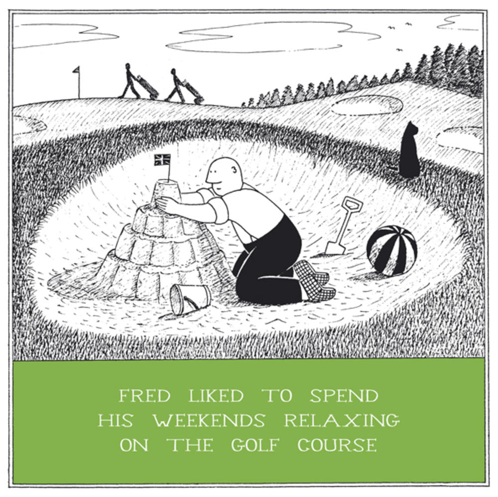 Relaxing Golf Course Funny Fred Birthday Card Cards