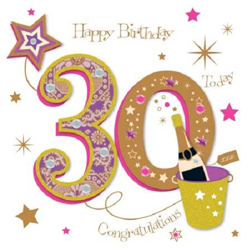 Happy 30th Birthday Greeting Card By Talking Pictures Cards