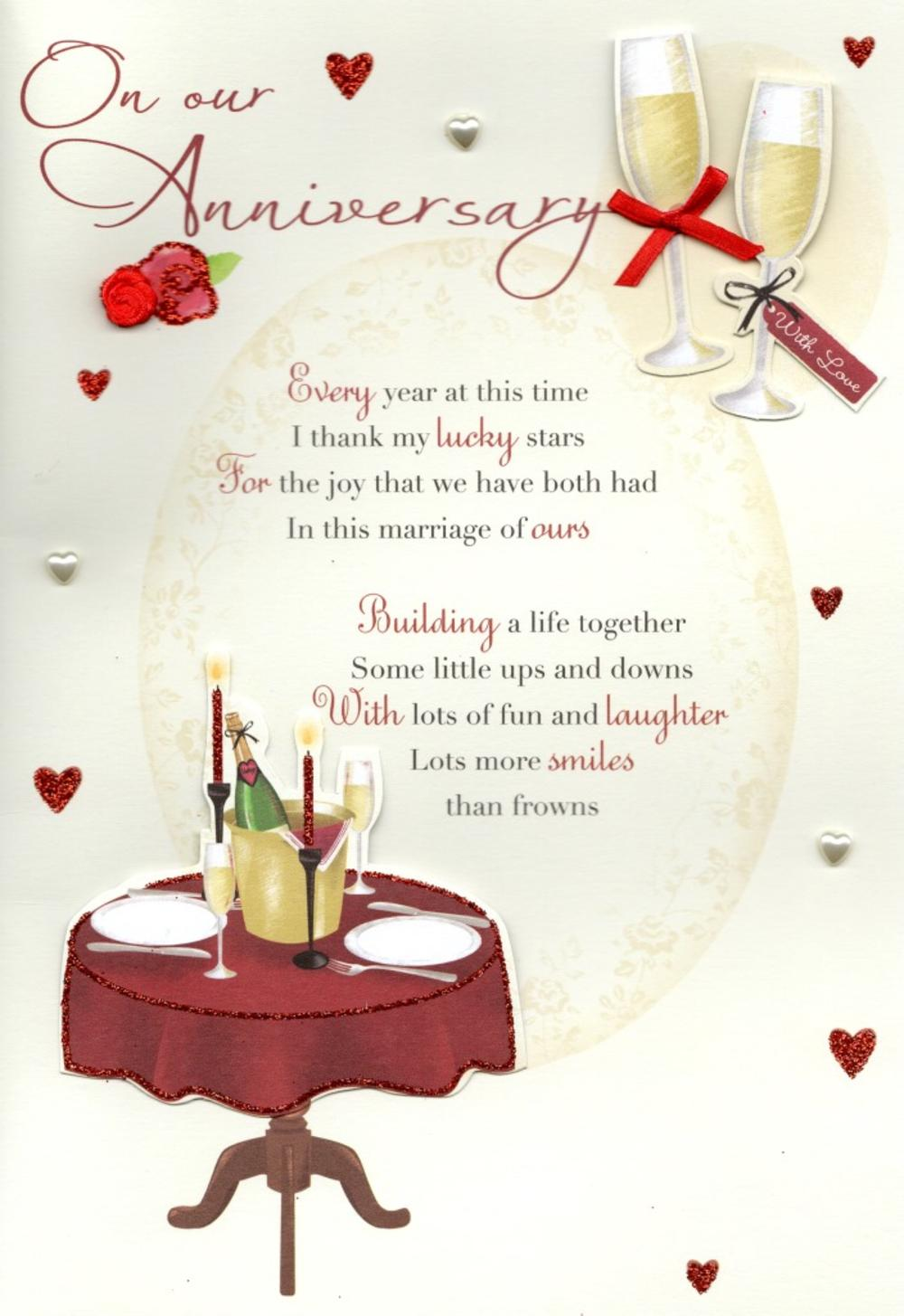 On Our Anniversary Greeting Card  Cards