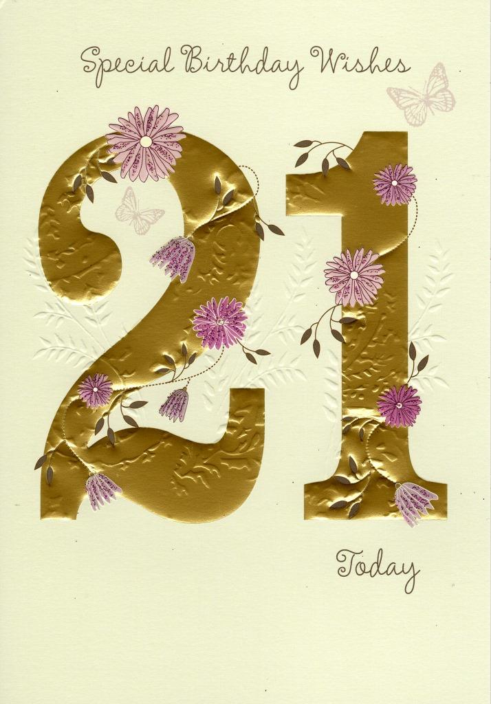 Happy 21st Birthday Greeting Card Cards