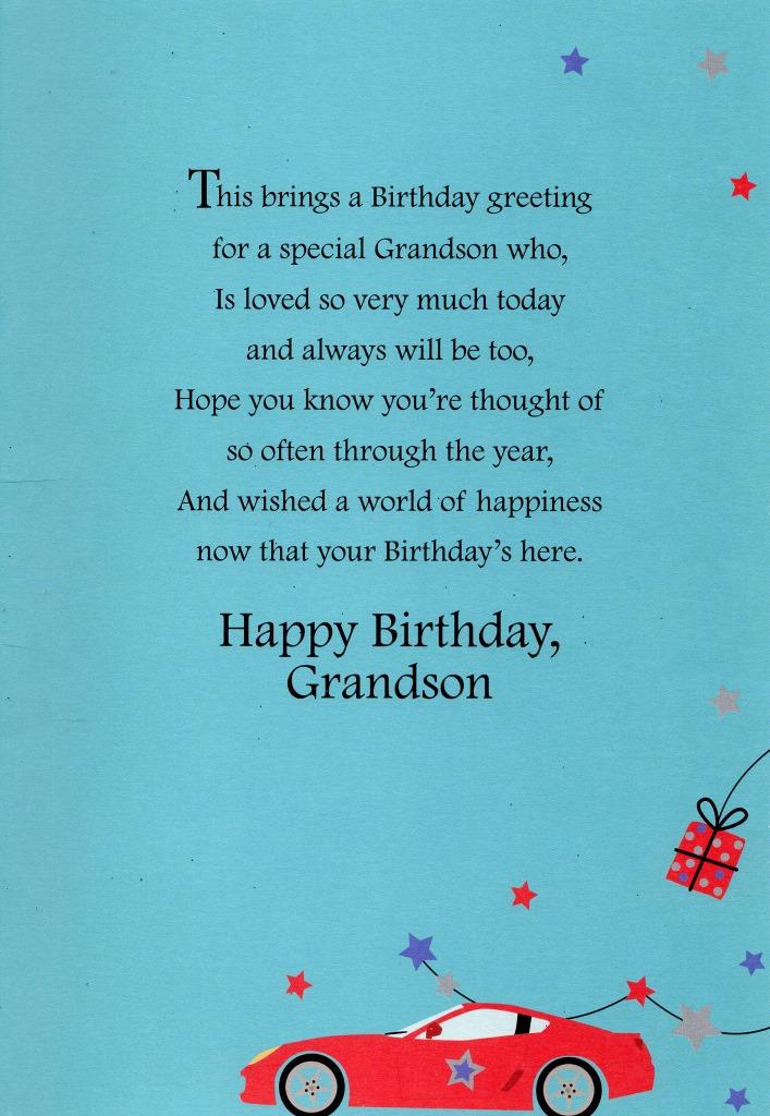 Happy Bday Grandson Poems Creativepoem