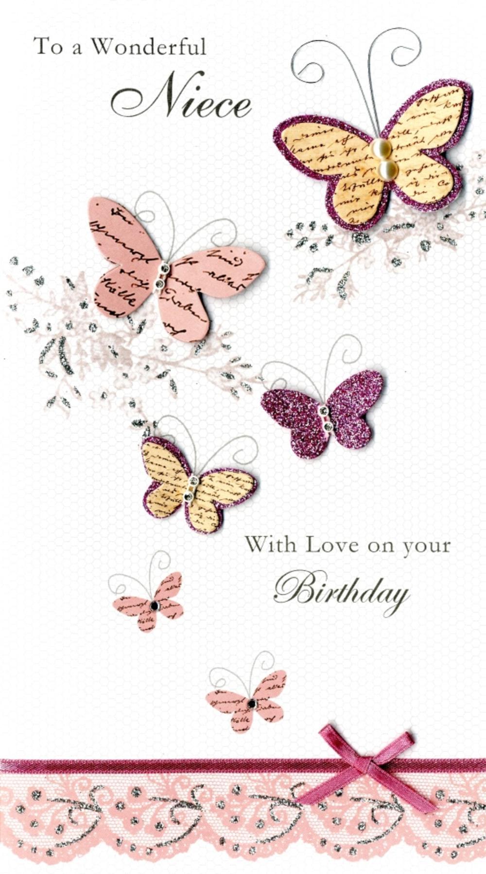 Wonderful Niece Happy Birthday Greeting Card Cards