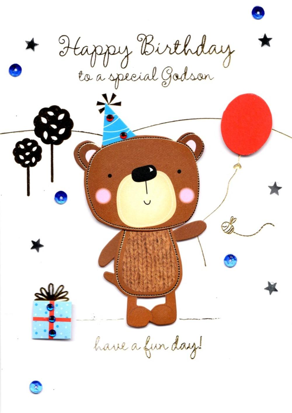 Special Godson Handmade Birthday Greeting Card Cards