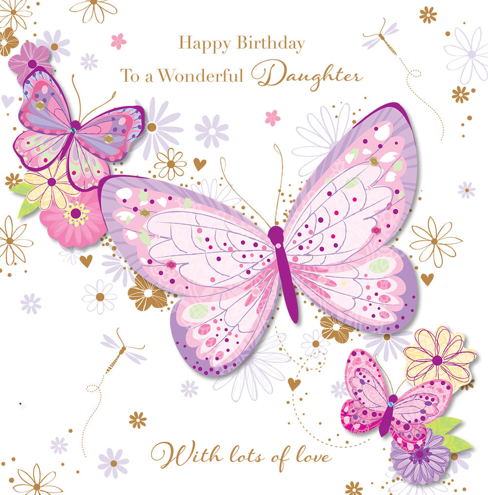 Wonderful Daughter Happy Birthday Greeting Card Cards
