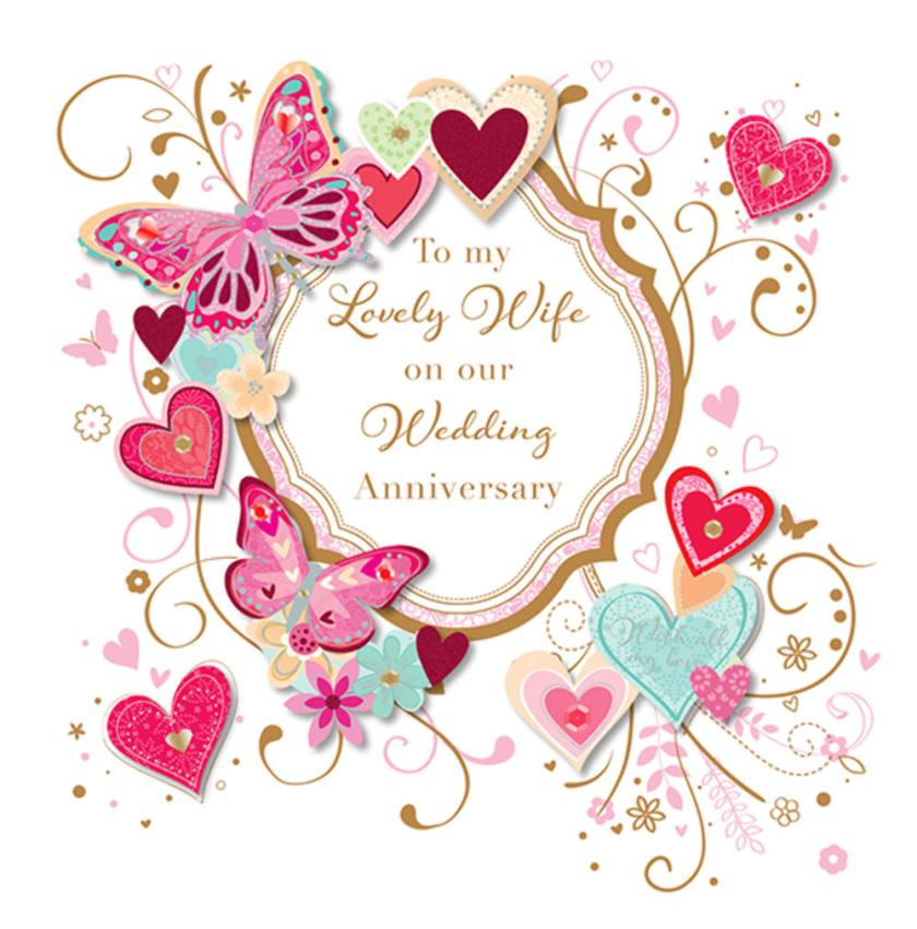 To My Lovely Wife Wedding Anniversary Greeting Card