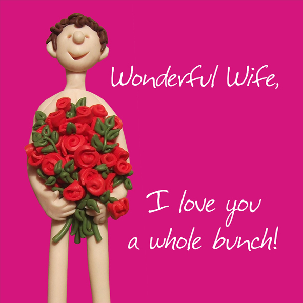 Wonderful Wife I Love You Valentines Day Greeting Card