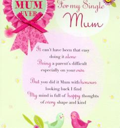 for my single mum mothers day card cards  [ 1000 x 1403 Pixel ]