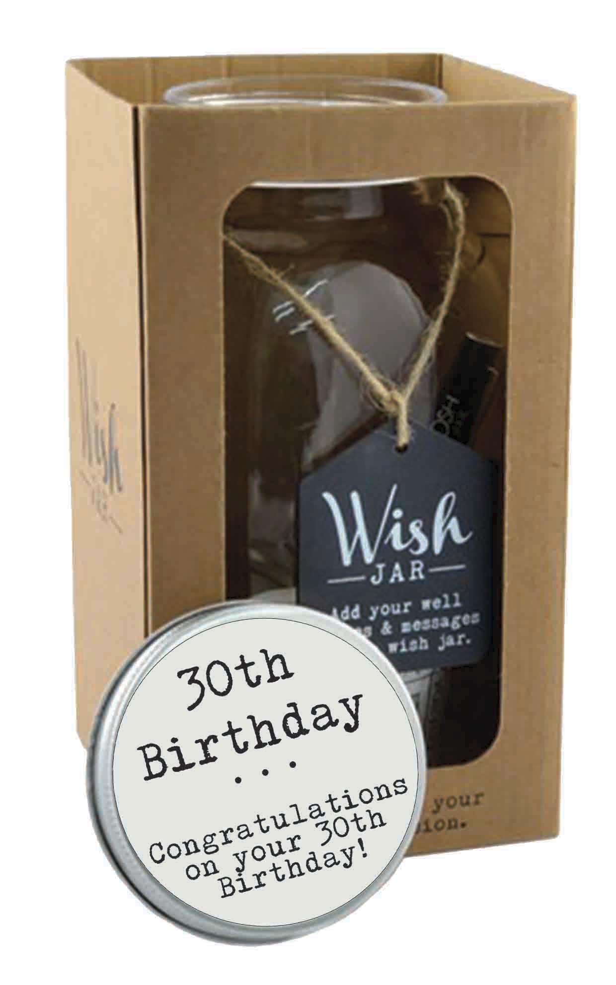 Splosh 30th Birthday Wish Jar Gift Idea Gifts Love Kates