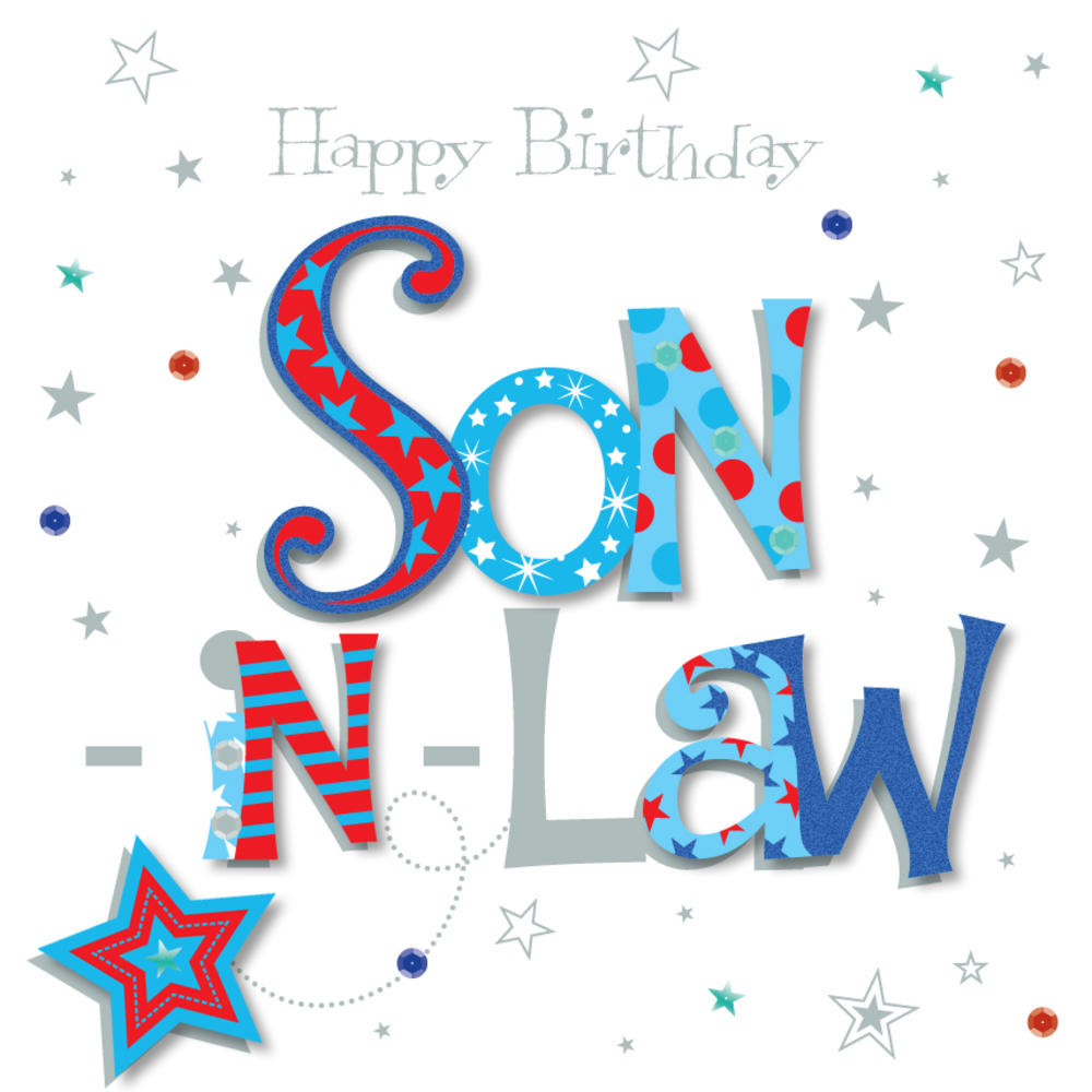 Son In Law Happy Birthday Greeting Card Cards