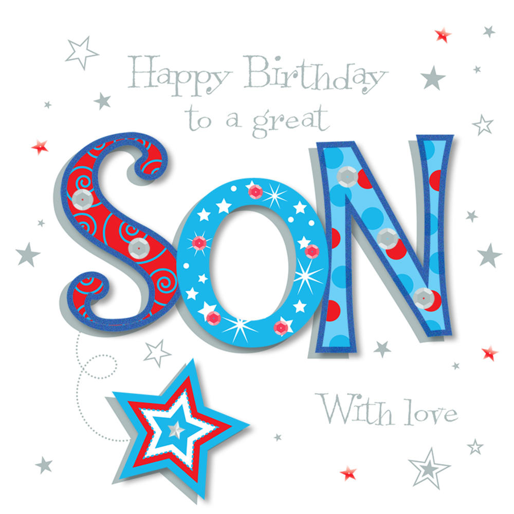 Great Son Happy Birthday Greeting Card Cards