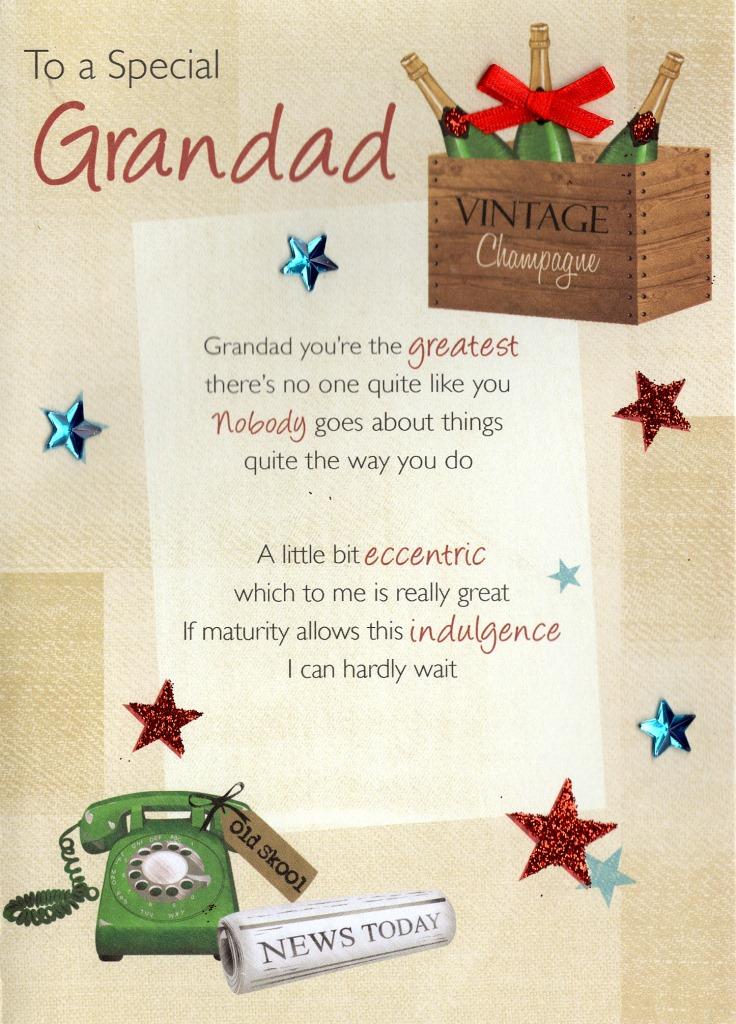 Special Grandad Birthday Greeting Card Cards