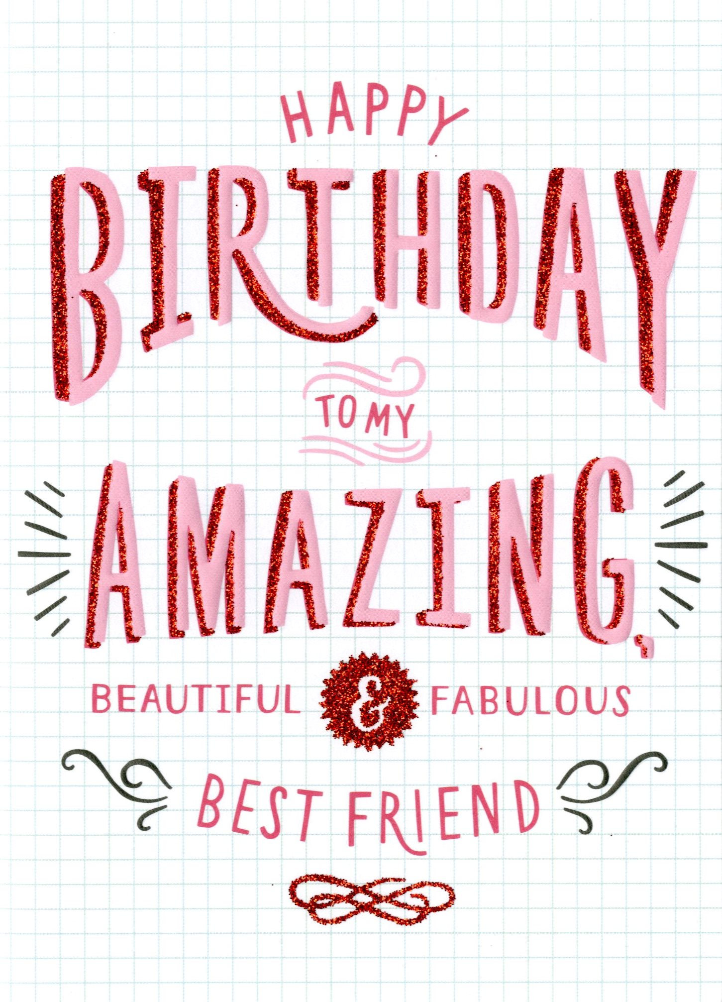 Amazing Best Friend Birthday Card Cards