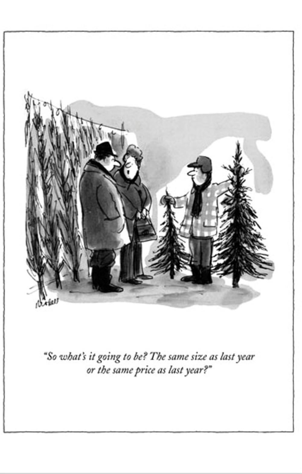 Funny The New Yorker Xmas Tree Christmas Card Cards
