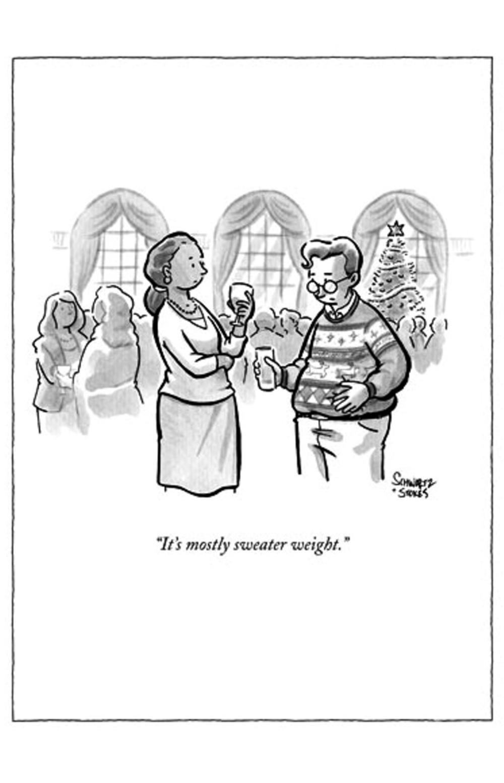 Funny The New Yorker Sweater Weight Christmas Card Cards